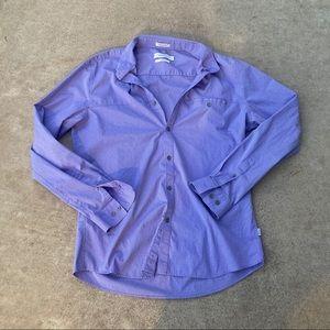 Calvin Klein slim fit purple stretch dress shirt